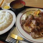ファミリア - 生姜焼き定食750円