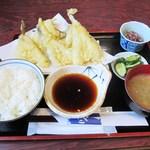 大漁 - ハゼの天ぷら定食