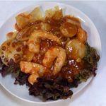 萬和樓 - 素エビチリ(菜食もどき料理)
