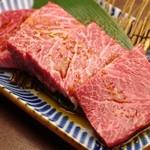 焼肉グレート - 1日限定5人前、極上厚切りハラミ 1900円(税別)