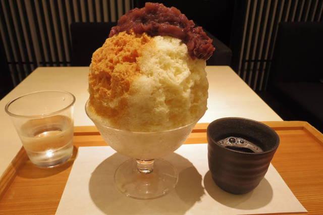 緋毬 - きなこミルク金時かき氷