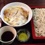 さ和乃 - カツ丼+もりそばセット950円