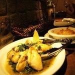 バール バゲット - 牡蠣とホウレンソウのアンチョビ風味