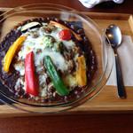 Browny - 彩どり野菜の焼きカレー 完熟トマトのルー @950円