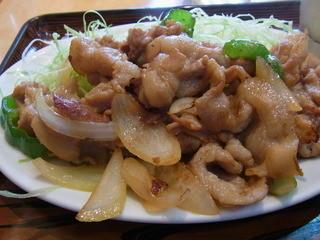 三平食堂 - 2014.10)焼き肉定食(750円)の焼き肉