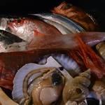 和処BAR輪 - その日に仕入れた魚をお造りとしてご提供しております。