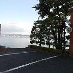 珈琲館 - 駐車場からの宍道湖
