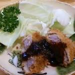 大樽 - 晩酌セット1350円のヒレカツ(201410)