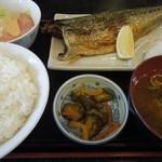 日高 - 焼き魚定食(サバ塩焼)650円 H26.10