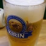 大樽 - 晩酌セット1350円の生ビール(201410)