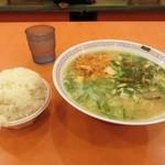 金龍ラーメン - 無料のライスは食べ放題