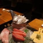 31435784 - 太刀魚お造り                       よこわお造り