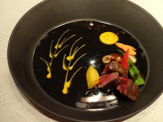 翆陽 エクシブ箱根離宮 - 黒毛和牛フィレ肉のカットステーキ(お月見プレート)