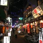 らーめん まぜそば がっつん - 新横浜ラーメン博物館に来たかのような、昭和な町並み。