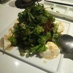 溶岩焼肉ダイニング bonbori - (bonboriコース)ぼんぼり風サラダ(大葉、おぼろ豆腐、茶豆)