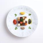 西村屋ホテル招月庭 レストランRicca - 冬野菜のモザイク 4種類のソースで