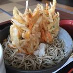 しれとこ里味 - 知床産つぶかき揚げ 冷やしかけそば  ¥1,000