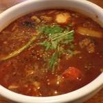 万屋マイキー  - チキンレッグ10辛、スープ倍盛りプラス300円です♪