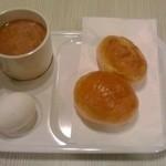 ホテルグリーンウエル - 朝食(盛付け一例)【2014年8月撮影】