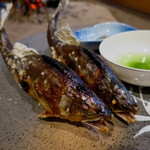 柳家 - 馬瀬川と長良川の天然子持ち鮎 蓼酢 田楽味噌