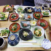 来馬温泉 風吹荘 - 料理写真:夕食(最初に並んでいた料理)