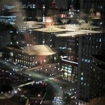 テンクウ - 席からの眺望(今回は東京駅が眼下に)