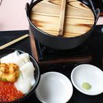 31450648 - ウニ・イクラ・イカ丼+せんべい汁セット