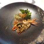 レストラン マノワ - 赤海老のポワレとムース 白ハマグリのナージュ仕立て(2014.10)