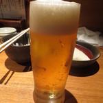 魚匠 銀平 道頓堀店 - 生ビール
