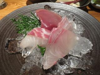 魚匠 銀平 道頓堀店 - お造り定食のお造り