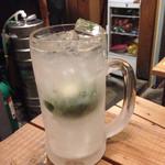 オオモリヤ - グリーンレモンサワー ※ドライで若い酸味が癖になる一杯(^ー゜)