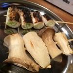 やきとん佐助 - 2014.10 野菜(長ねぎ、エリンギ)