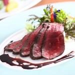 西村屋ホテル招月庭 レストランRicca - 但馬牛熟成肉のロースト(赤身)
