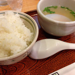 31455096 - じゅらく御膳のライス&スープ