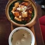 中国茶会 無茶空茶館 - マーボ豆腐丼セット