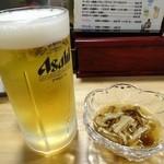 四季亭 - 料理写真:アサヒ生520円とお通し