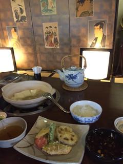 嵯峨野 - 湯豆腐定食 大変美味しゅうございました。