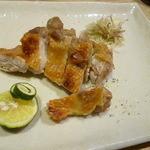 さかずき屋 - 鶏もも塩焼 2014.10.8