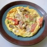 さらい亭 - イタリアン・オムレツ 350円 栄養タップリ バジルが効いています