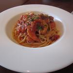 ライズカフェ - 大エビのせチリトマト