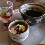 かぼ茶庵 - デザート2種とコーヒー