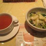 ぐらたんはうす ぱん - スープとサラダ