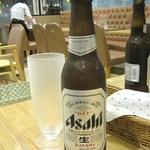 パステル - 瓶ビールはひえひえグラスで