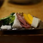 山き - 漬物(小松菜、大根、白菜、茗荷、南瓜)