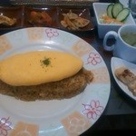 Kazamidori - こだわり卵のオムライスセット@1,000