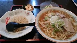 満洲味 - 2014年10月 ラーメン定食