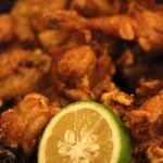 海鮮長州 - 鶏唐揚げ、魚の唐揚げ