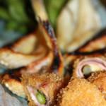 海鮮長州 - ベーコンとチーズの揚げ物、焼き魚、枝豆
