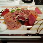 31476649 - 3周年記念飛騨牛特選ディナーフルーコース お肉屋さん風ガーデンべジ―サラダ