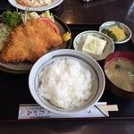 たかみ - アジフライ定食201409